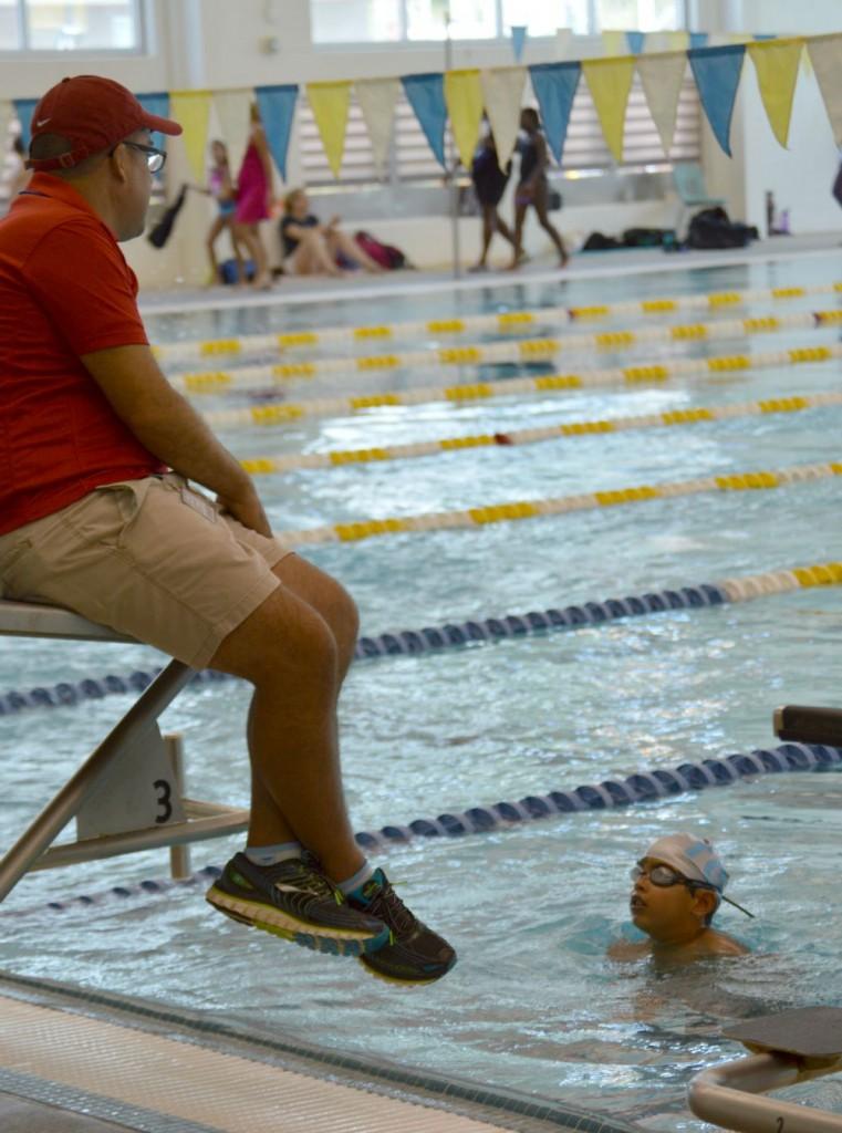 swimmer w coach